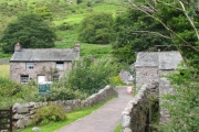 Bridge over the river and Eskdale Mill: Boot