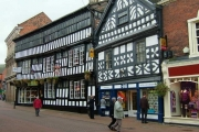 Half timbered building