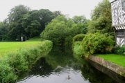 The Moat at Little Moreton Hall: Cheshire