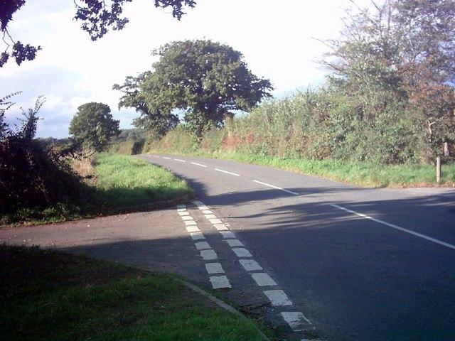 The B1121 Saxmundham Road