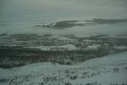 A wintry Aviemore from Craigellachie