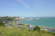 View across the Marinas from Western Heights, Dover