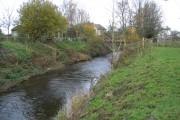 River Alyn/Afon Alun and summerhouse
