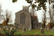 The east end of St. Peter's church, Copdock, Suffolk
