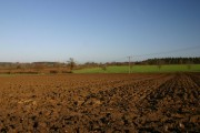 Ploughed field at Bradfield St Clare