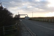North Bridge Farm entrance on the A614, looking south
