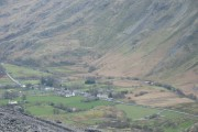 The Village of Nant Peris from Braich