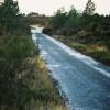 Road to Lon Dornaich Water Treatment Plant