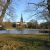 Clumber Chapel Viewed from Opposite Side of Lake