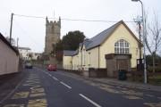 Raglan primary school and parish church