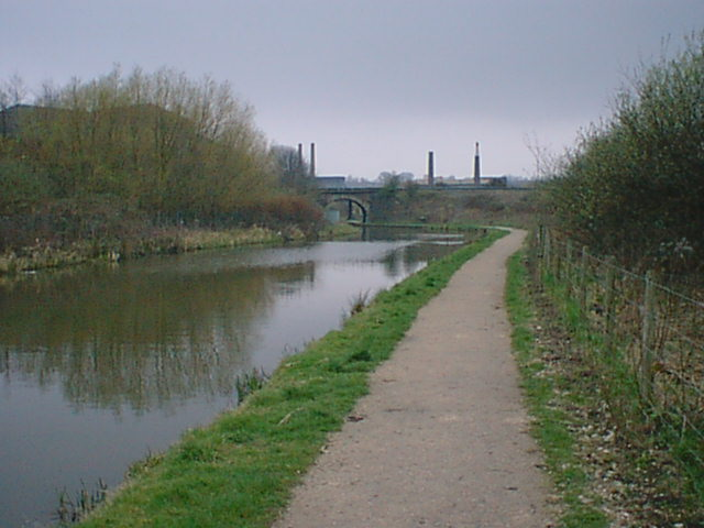 Chesterfield Canal - Dema Glass Chimneys in Background