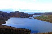 Looking down on Loch Diabaiga's Airde