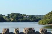 """""""The Street"""" across Upper Rivington Reservoir"""