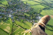 Aerial view from Paramotor of Letcombe Basset