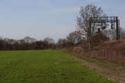 Farmland and railway embankment, Sparsholt