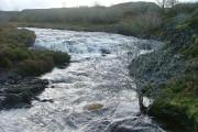 Treaslane River in Spate
