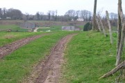 View of dirt track to Minacre farm.