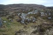 View across the moorland to Beinn Hynish