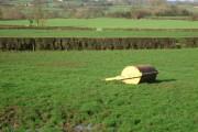 Roller in field