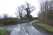 Lane junction at Burnt Oak