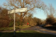 Signpost at White Horse Corner