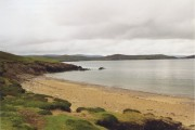 Sandy beach on Muckle Roe overlooking Swarbacks Minn
