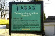 Historical sign for Paran Church Manmoel