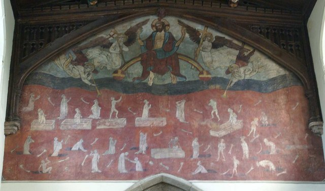 Medieval painting over the Chancel arch