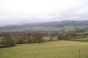 View from below Minfield Farm, Bronllys