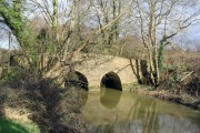 Bridge over the Brit at Pymore