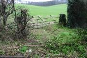 Farmland through a gate