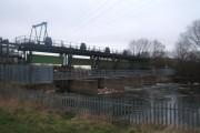 Sluice gates on the river Derwent near Alvaston