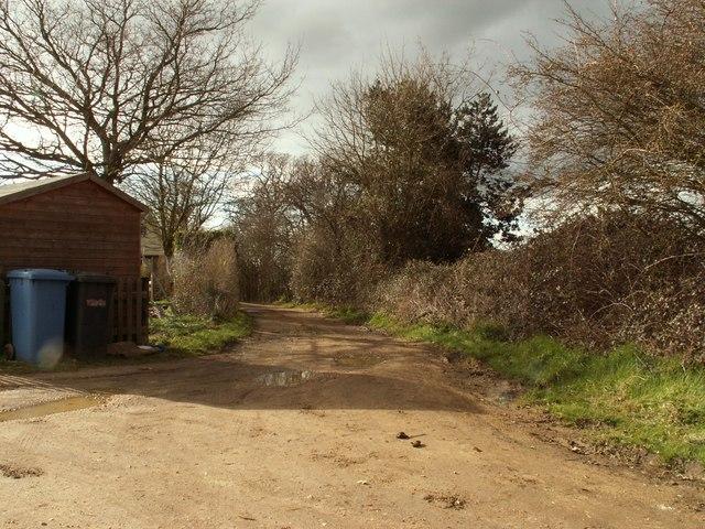 Bridleway, close to Arger Fen