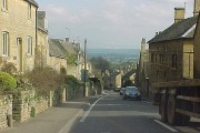 Bourton-on-the-Hill, the A44 facing east.