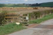 Entrance to Rowley Farm near Cornsay Colliery