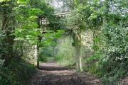 Wormelow Tump - derelict footbridge at Bryngwyn Manor
