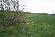 Farmland seen from Whitworth Lane