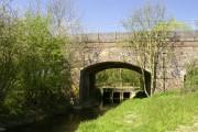 Railway bridge (disused) and road bridge over Claydon Brook