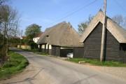 Thatched barns at Baconend Green