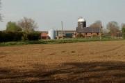Across a field to Canham's Farm
