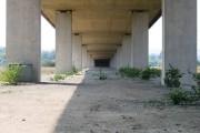 Under the Flintshire Bridge Approach
