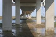 Under the Flintshire Bridge looking East