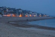 Lyme Regis beach at dusk