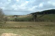 Farmland looking towards Upper Nant-hir