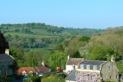 A view of Midford from the viaduct
