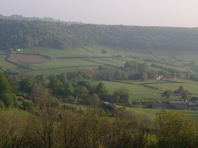 Looking across Angeston from Uleybury