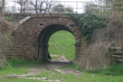 Railway Bridge over the Ladybrook Valley Interest Trail Leading to Lyme Park