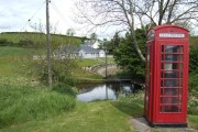 Red telephone box in the Old Town