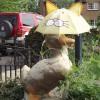 Horley duck with umbrella