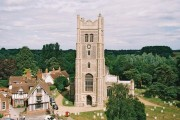 Eye: parish church of Ss. Peter & Paul from the castle
